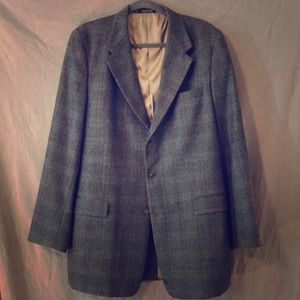 Burberry London plaid blazer 44 long 44L VGC
